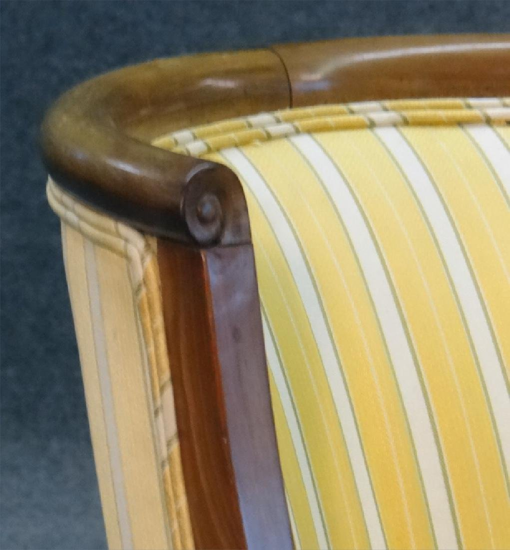 PR OF FRENCH 19THC. SALON OR TUB CHAIRS - 5