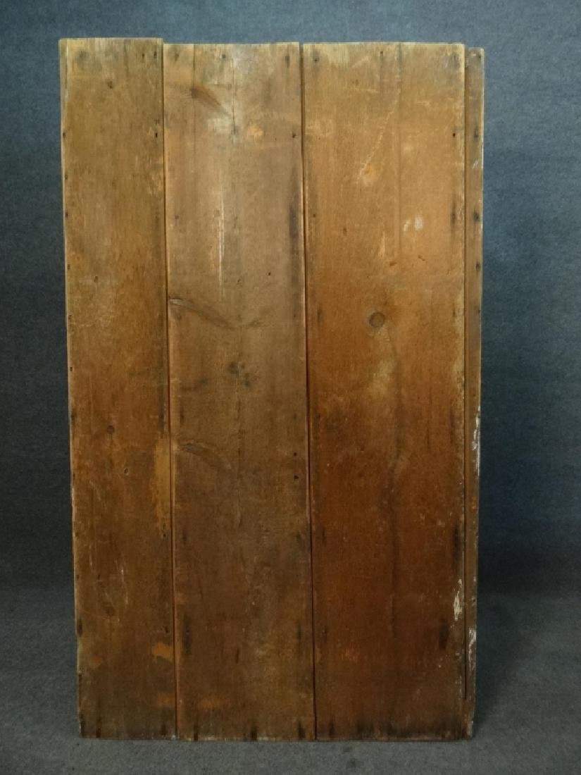 19THC. GREEN OPEN TOP STEPBACK CUPBOARD - 4