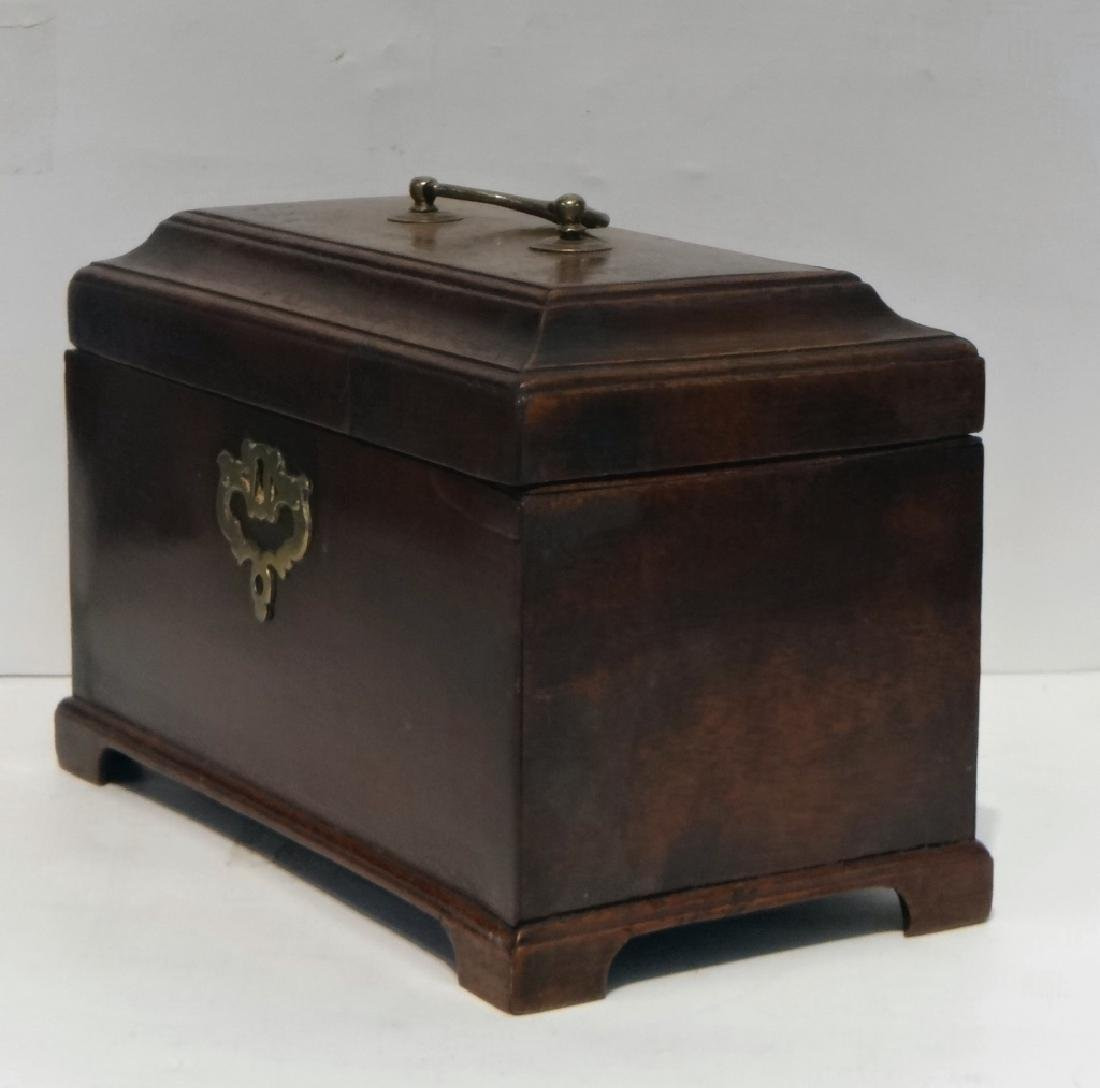 "3 BIN CHIPPENDALE TEA CADDY  6 1/4"" T X 9"" W X 5""D - 3"