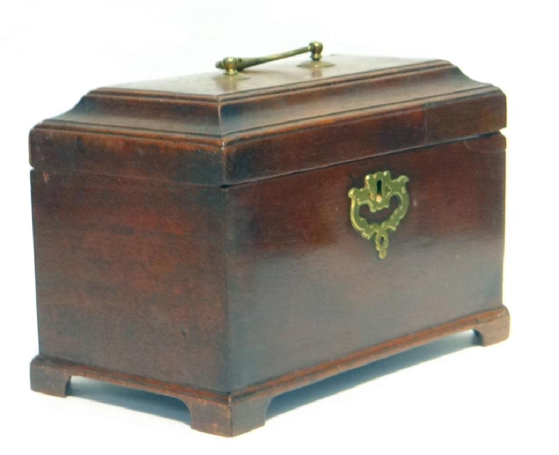 "3 BIN CHIPPENDALE TEA CADDY  6 1/4"" T X 9"" W X 5""D - 4"