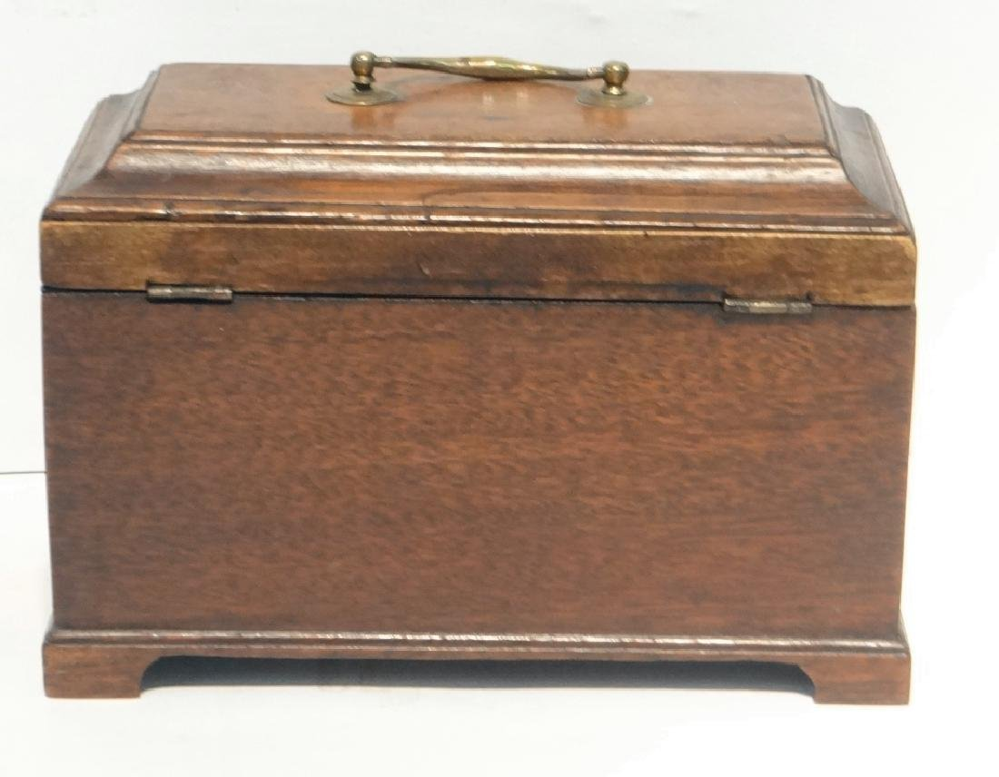 "3 BIN CHIPPENDALE TEA CADDY  6 1/4"" T X 9"" W X 5""D - 6"