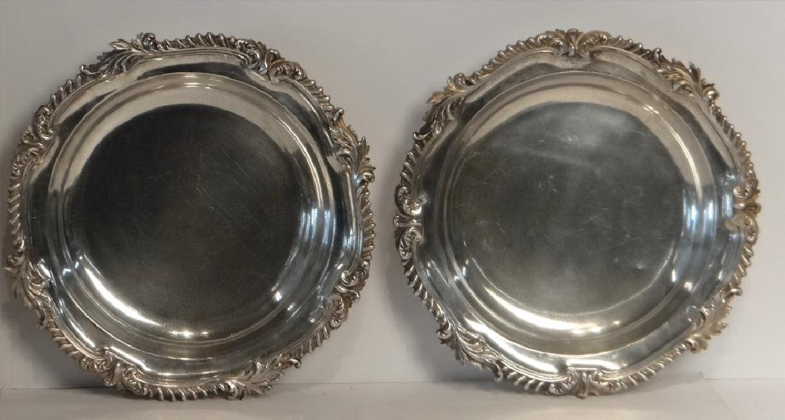 2 ENGLISH STERLING DEEP DISHES JOHN S. HUNT