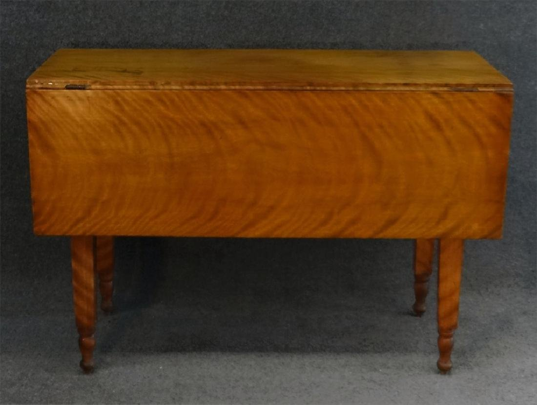 19THC. FLAME GRAINED DROPLEAF NY TABLE - 2