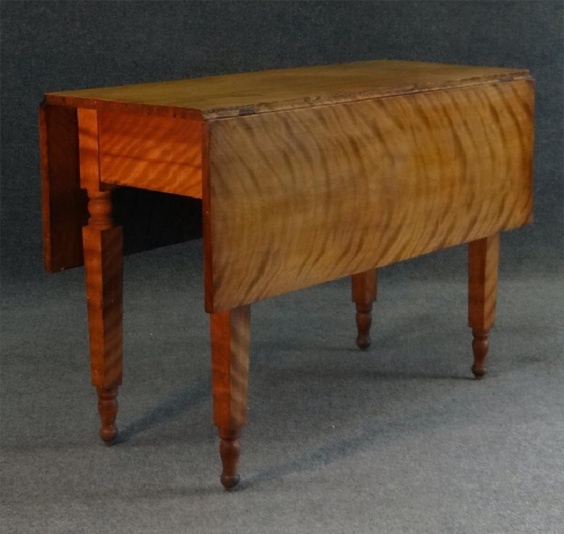 19THC. FLAME GRAINED DROPLEAF NY TABLE - 3