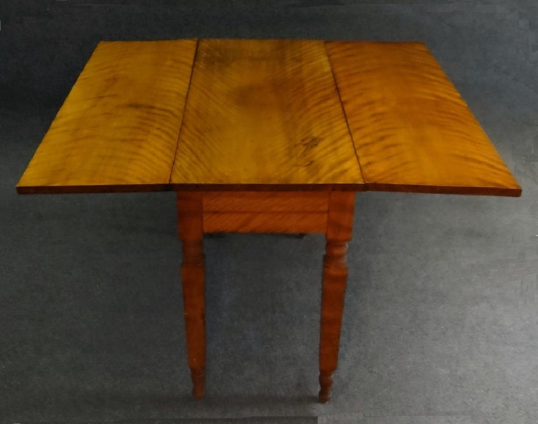 19THC. FLAME GRAINED DROPLEAF NY TABLE - 4
