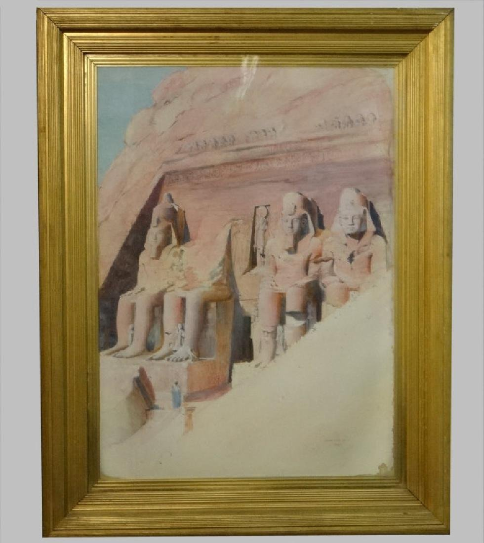 "WATERCOLOR ""EGYPT 1899"" JOSEPH LINDON SMITH"