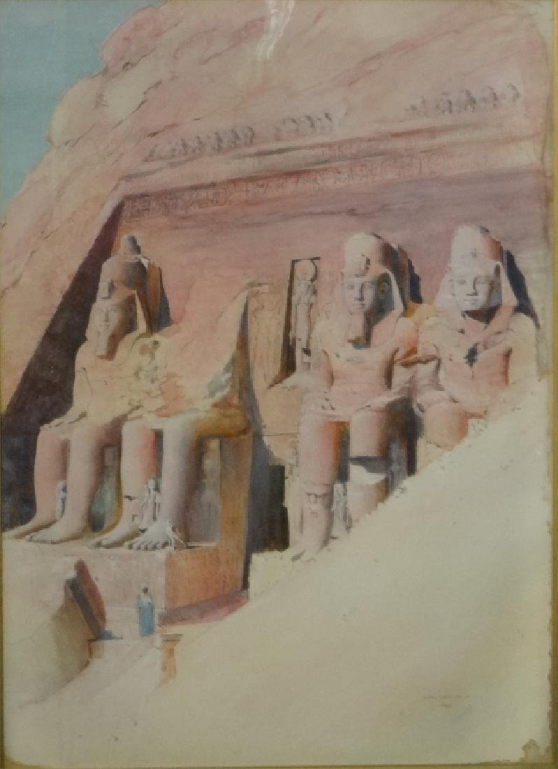"WATERCOLOR ""EGYPT 1899"" JOSEPH LINDON SMITH - 2"