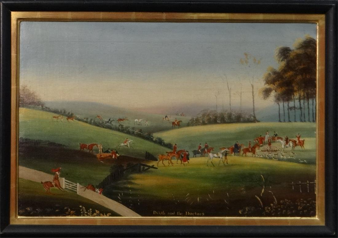 "19THC. ENGLISH  HUNT SCENE ""DEATH AND THE DOCTORS"" - 2"