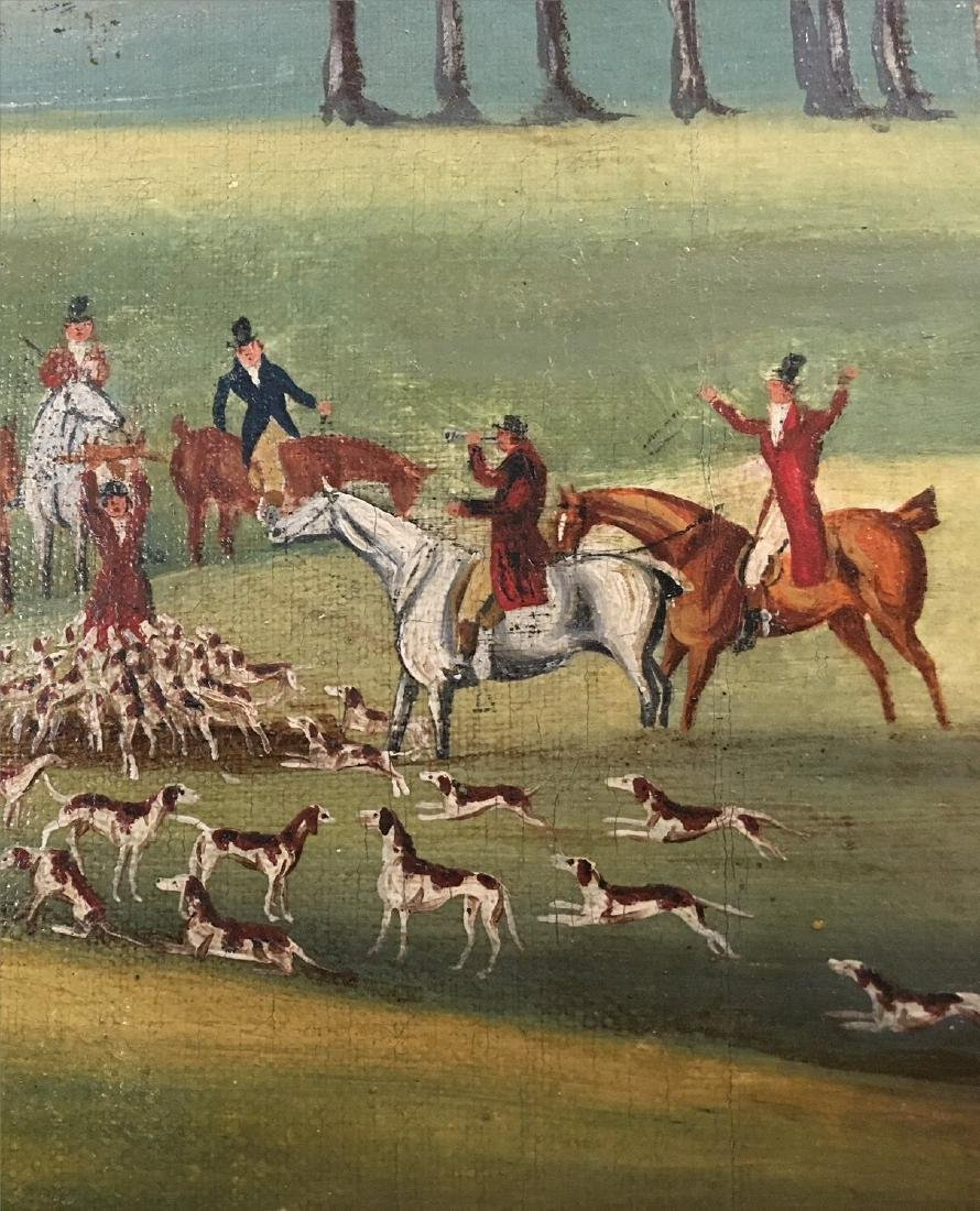 "19THC. ENGLISH  HUNT SCENE ""DEATH AND THE DOCTORS"" - 4"