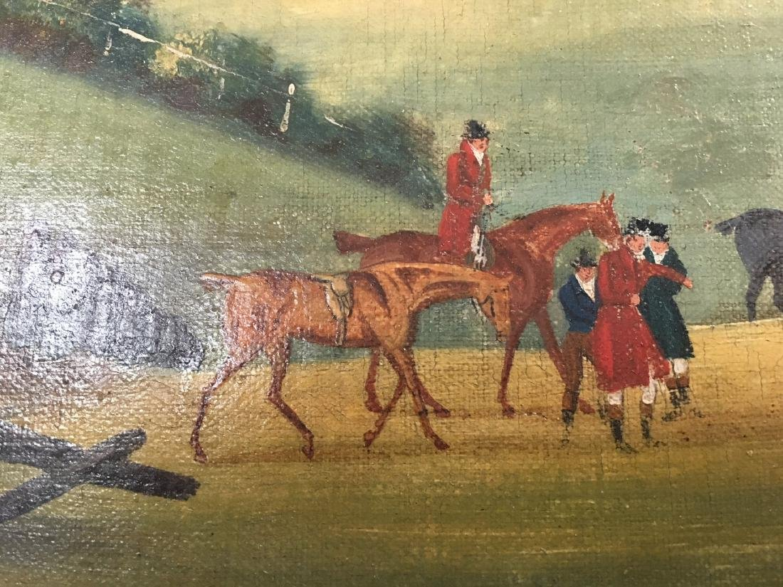 "19THC. ENGLISH  HUNT SCENE ""DEATH AND THE DOCTORS"" - 5"