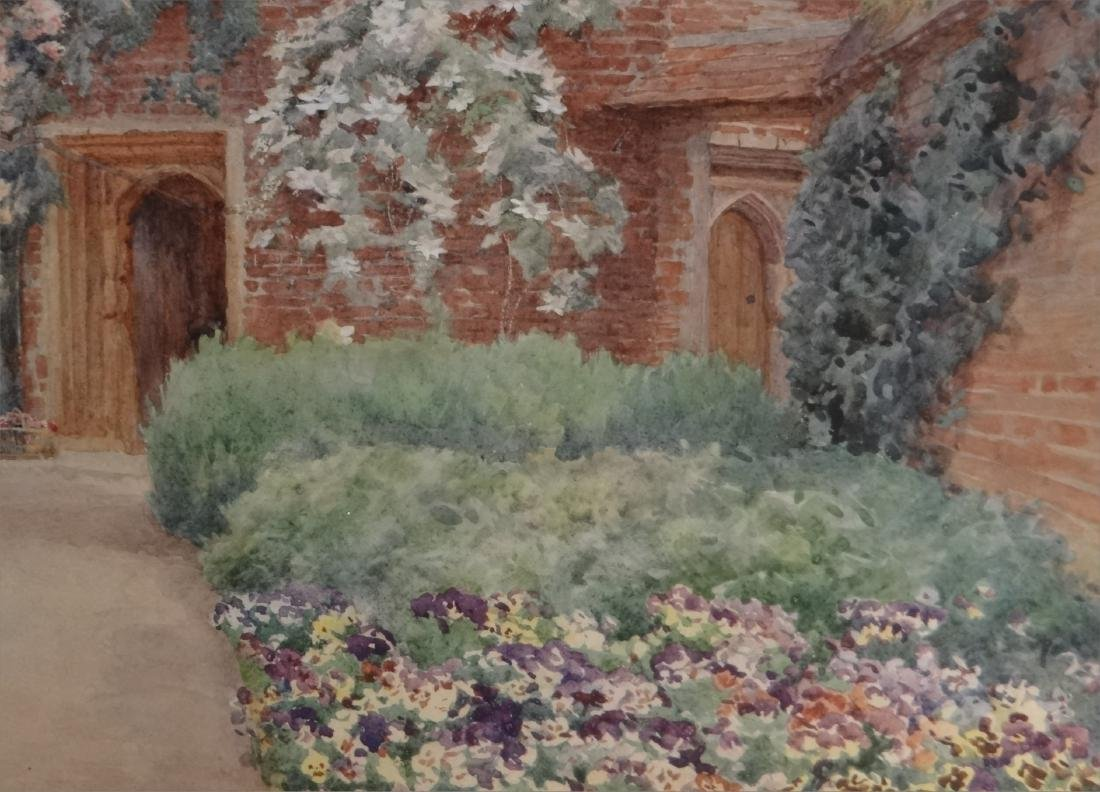 """WATERCOLOR """"FLOWER FILLED PATH TO THE COTTAGE"""" - 3"""