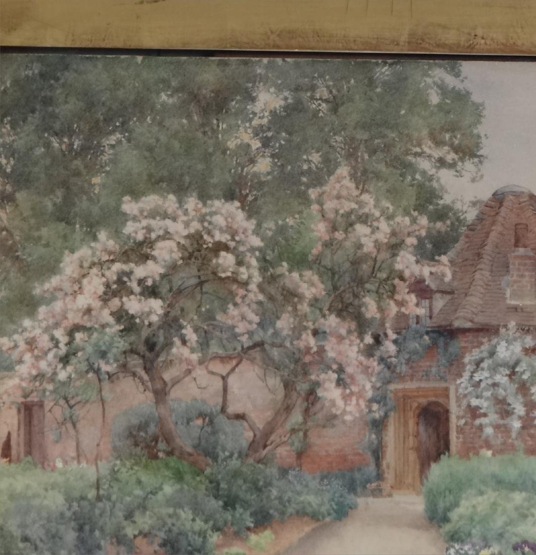 """WATERCOLOR """"FLOWER FILLED PATH TO THE COTTAGE"""" - 4"""