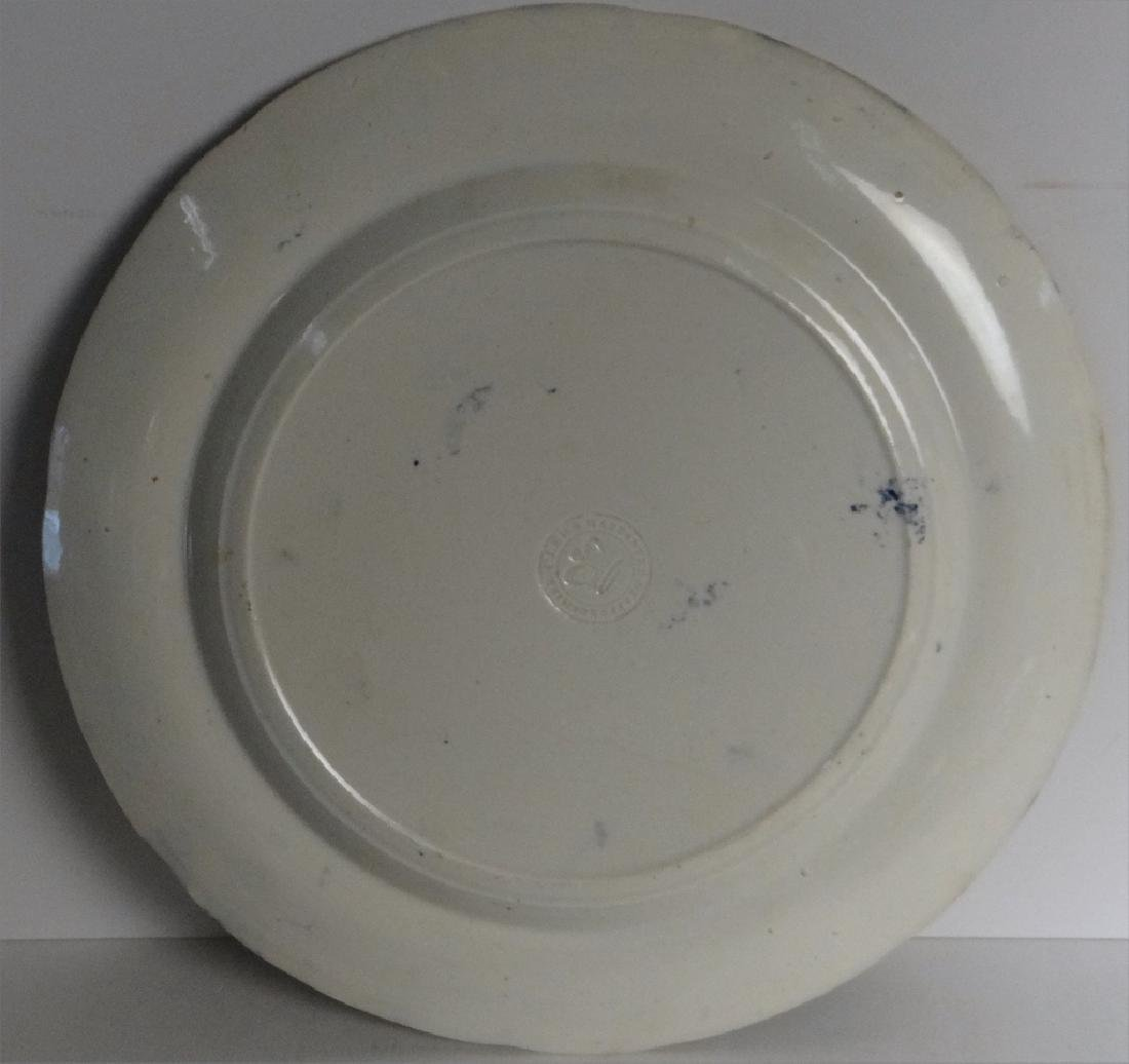 3 HISTORICAL DARK BLUE PLATES BY CLEWS - 3