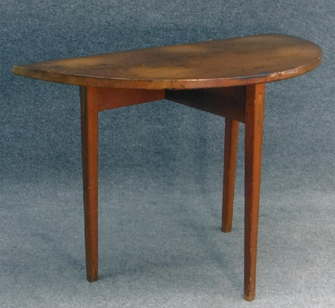 """COUNTRY DEMI LUNE SIDE TABLE 27"""" TALL X 38"""" WIDE"""