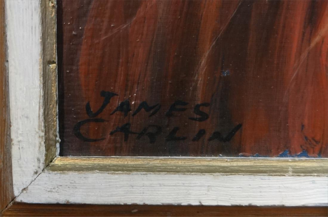 O/BD MEXICAN CORN HUSK MASKS SGND JAMES CARLIN - 3