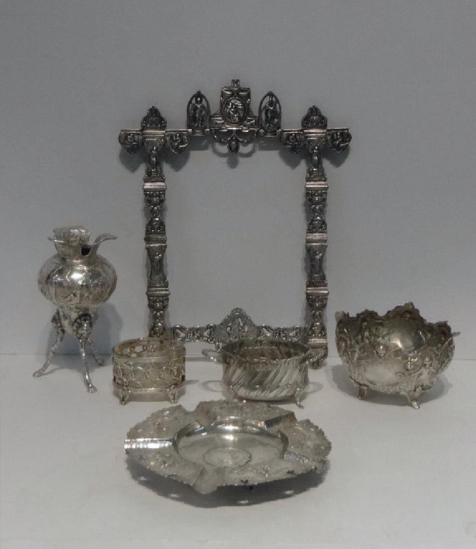 GROUP OF CONTINENTAL REPOUSSE SILVER INC. FRAME,