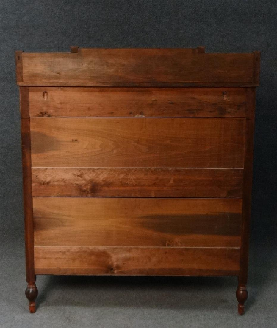 MAHOGANY SHERATON CHEST W/ GALLERY TOP - 8