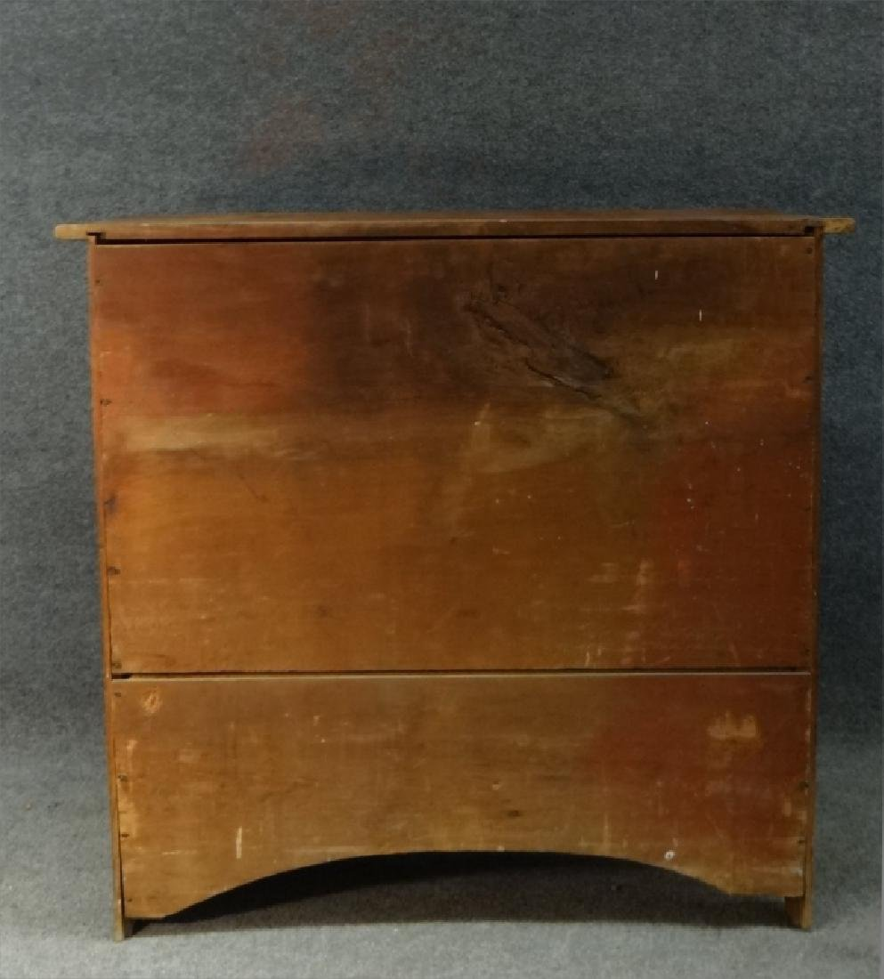 EARLY RED PAINTED COUNTRY CHIPPENDALE 4 DR CHEST - 7