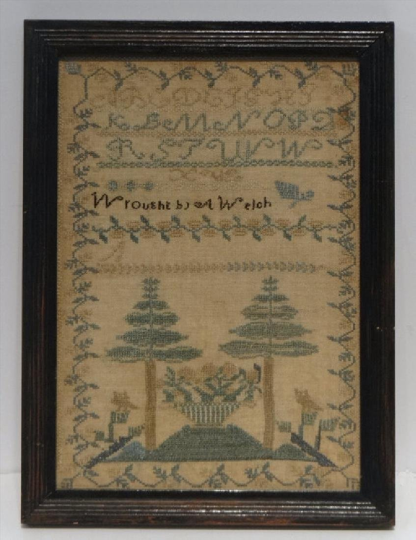 NEW ENGLAND SAMPLER WROUGHT BY A. WELCH