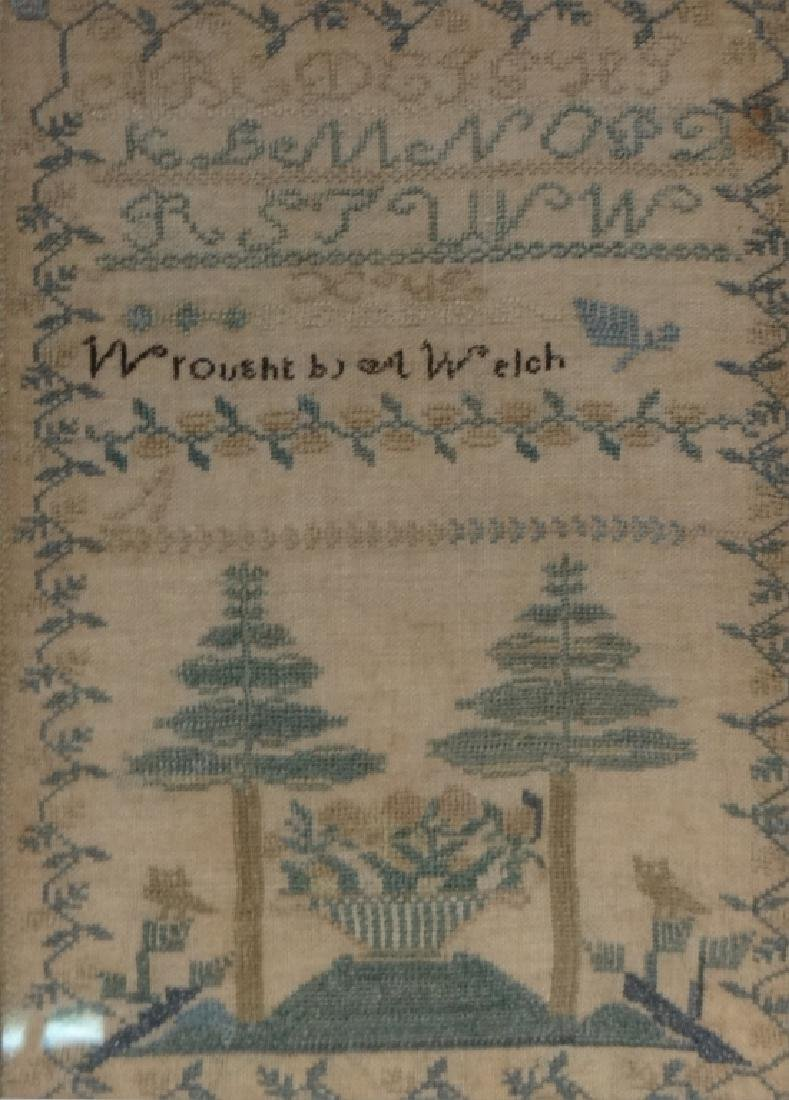 NEW ENGLAND SAMPLER WROUGHT BY A. WELCH - 2