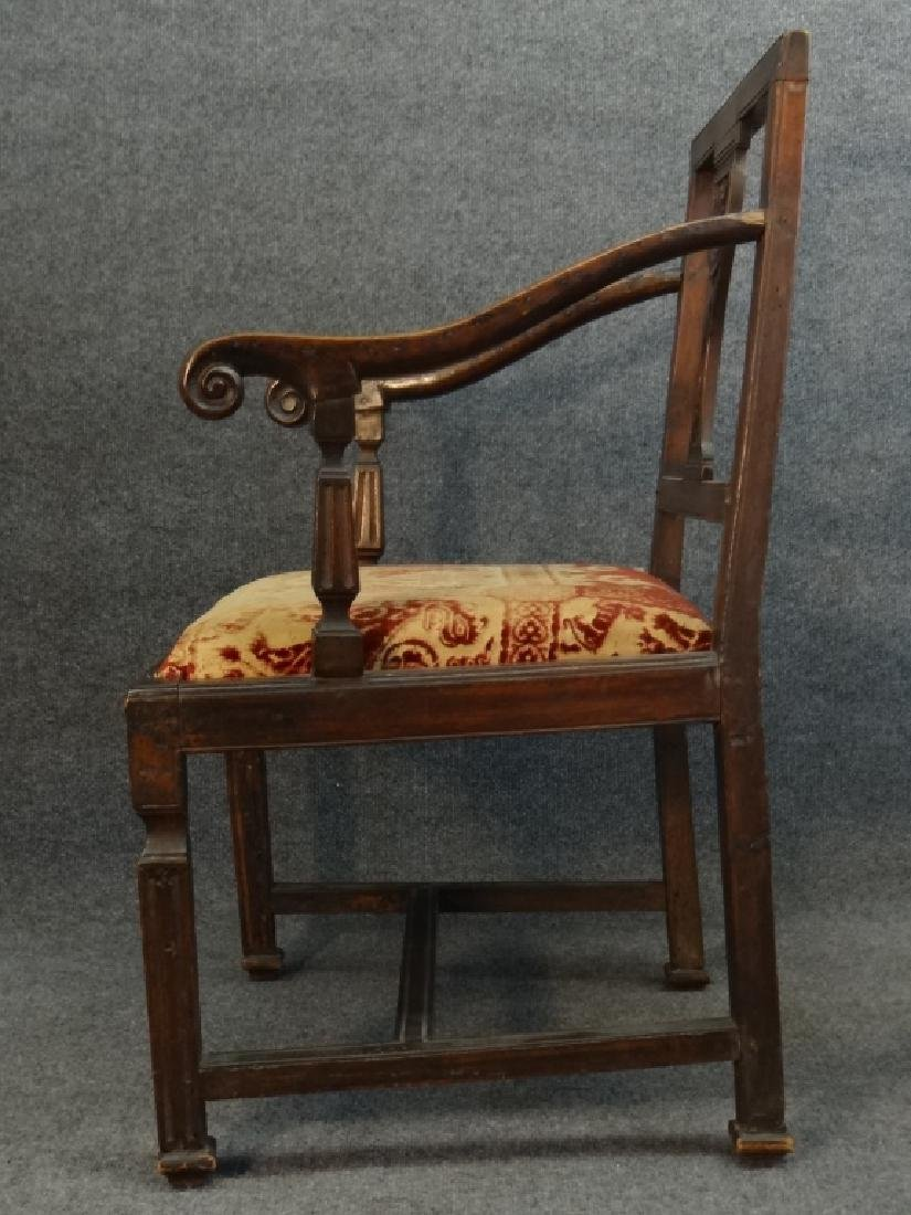 18THC. FRENCH ARM CHAIR W/ CARVED SPLAT - 4