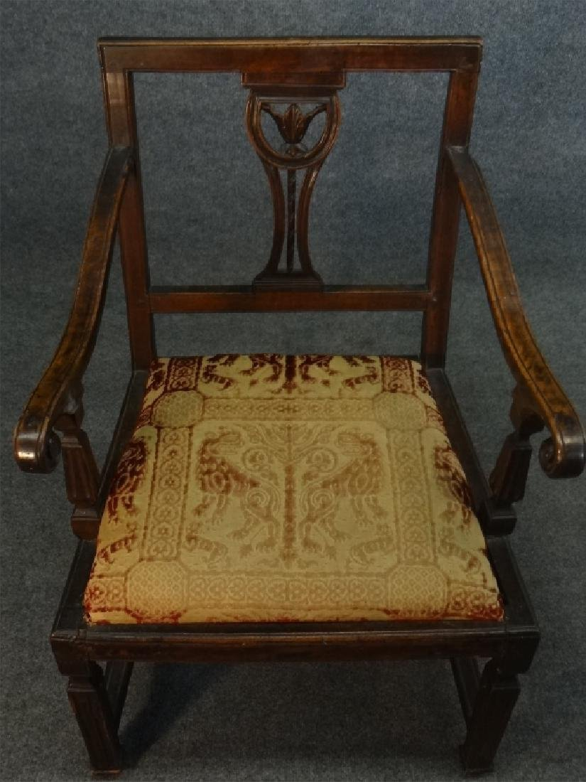18THC. FRENCH ARM CHAIR W/ CARVED SPLAT - 7