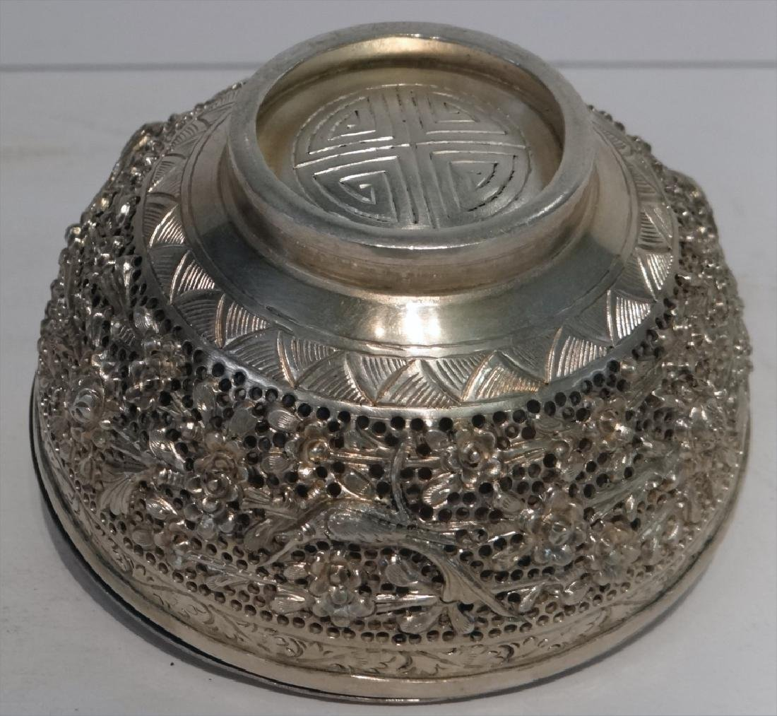 2 PIERCED WORK PERSIAN SILVER COVERED BOTTLES - 10