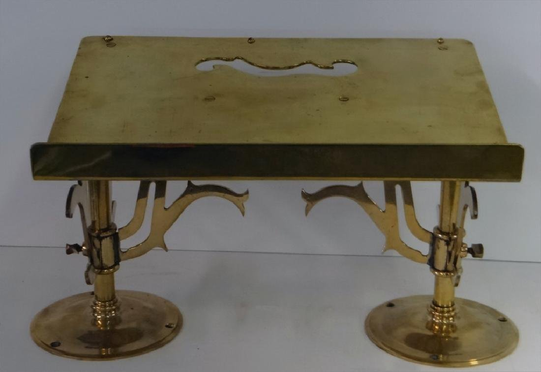 """BRASS LECTURN 19"""" W X 12 1/2' DEEP OVERALL"""