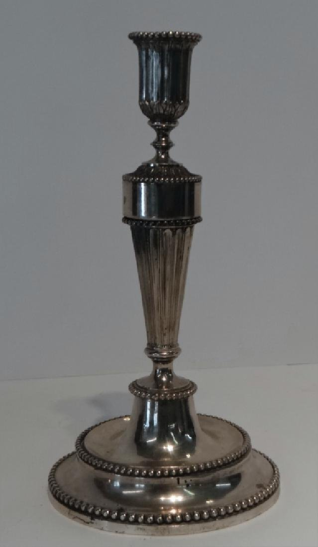 PR OF 19THC. CONTINENTAL CANDLESTICKS HAND CHASED - 2
