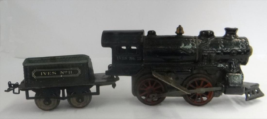 WIND UP TRAINS INC. IVES, 1921 # 19 W/ TENDER & - 10