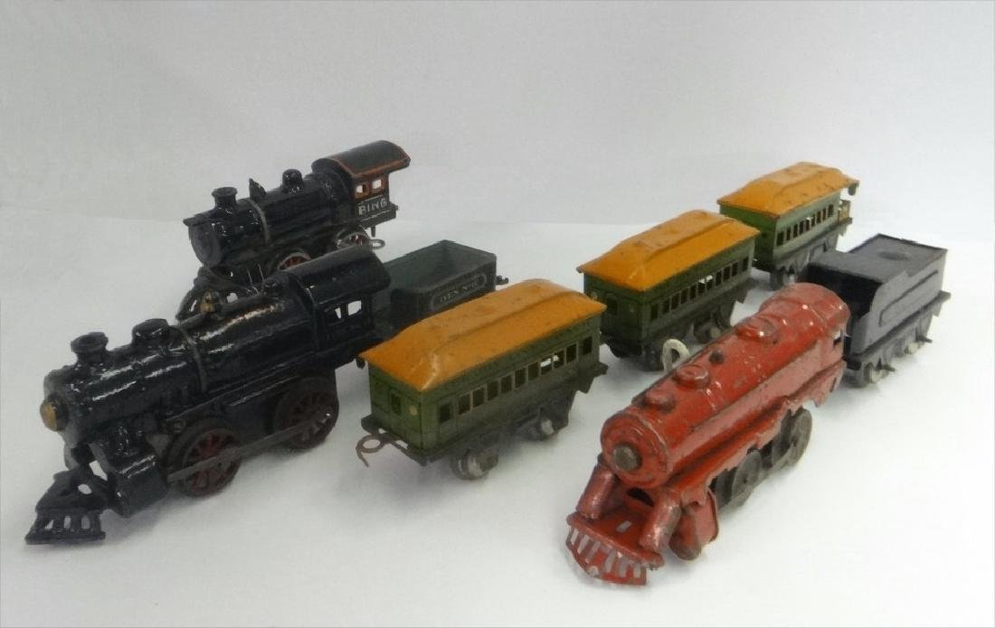 WIND UP TRAINS INC. IVES, 1921 # 19 W/ TENDER &