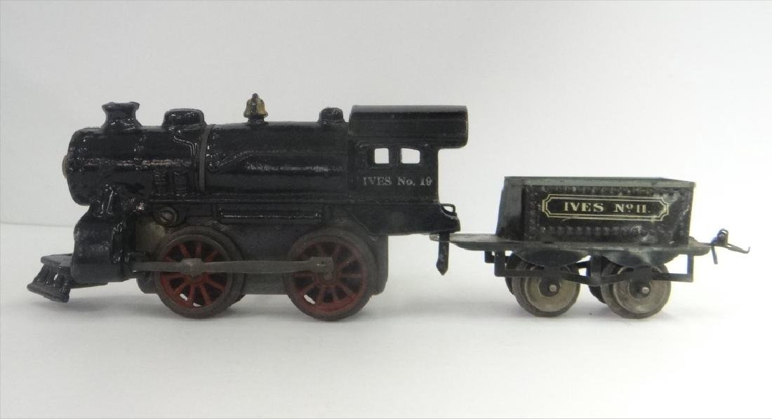 WIND UP TRAINS INC. IVES, 1921 # 19 W/ TENDER & - 7
