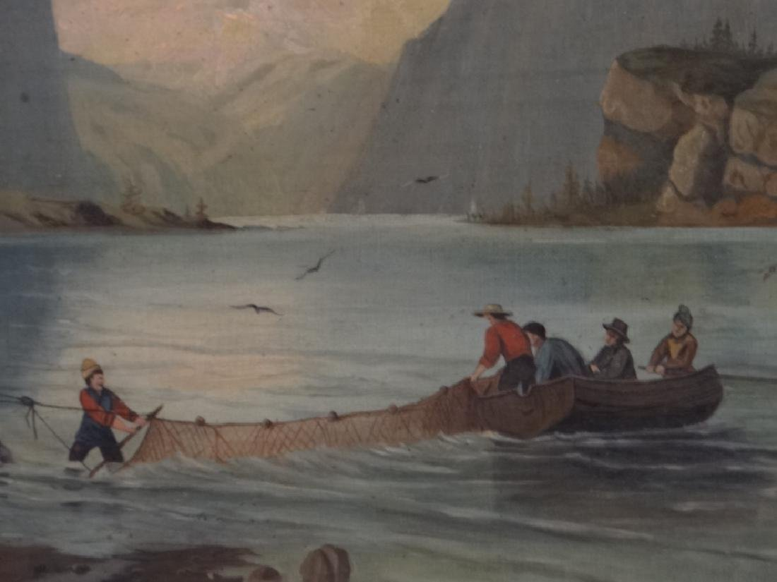 "O/C ""NETTING SALMON IN GREAT NORTH"" 19THC. UNSGND - 2"