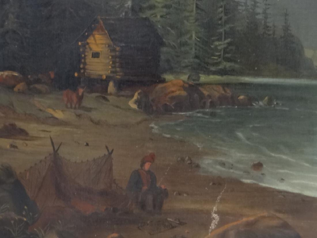 "O/C ""NETTING SALMON IN GREAT NORTH"" 19THC. UNSGND - 3"