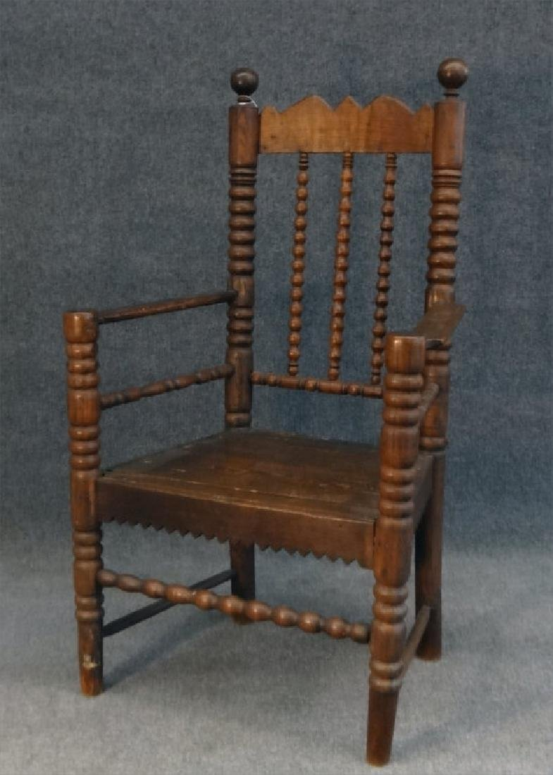 EARLY 18THC. ARM CHAIR