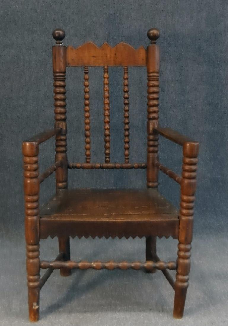 EARLY 18THC. ARM CHAIR - 2