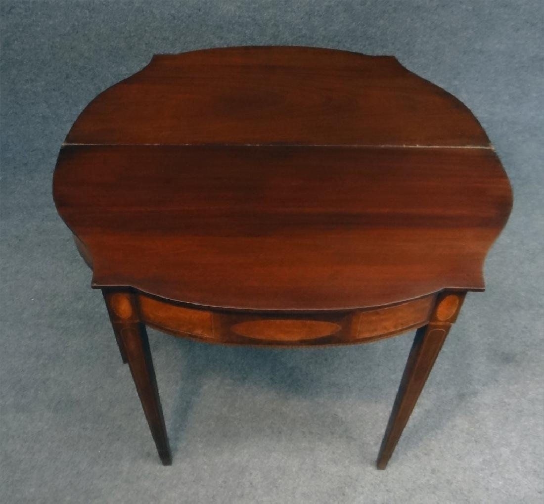 19THC. HEPPPLEWHITE REVIVAL CARD TABLE W/ - 2