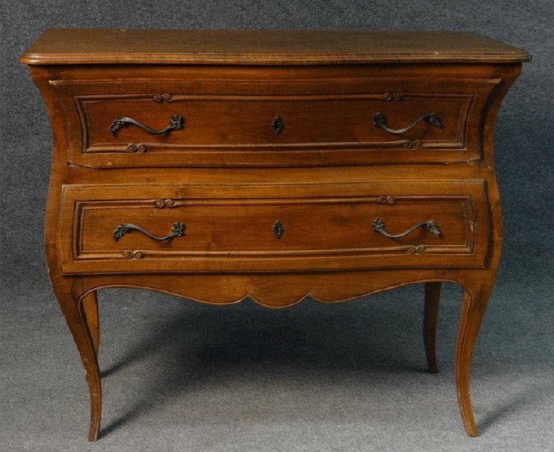 FRENCH 2 DR BOMBAY COMMODE RETAILED BY B. ALTMAN