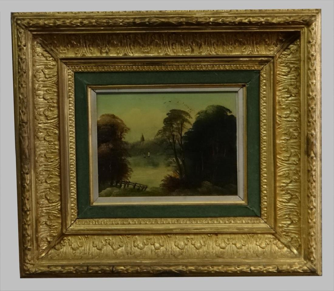 "O/PANEL ""LANDSCAPE NEAR NORWICH"" SGND H. BRIGHT - 2"