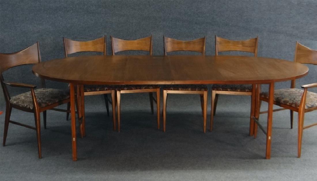 6 PAUL MCCOBB CHAIRS & TABLE W/ 2 LEAVES - 2