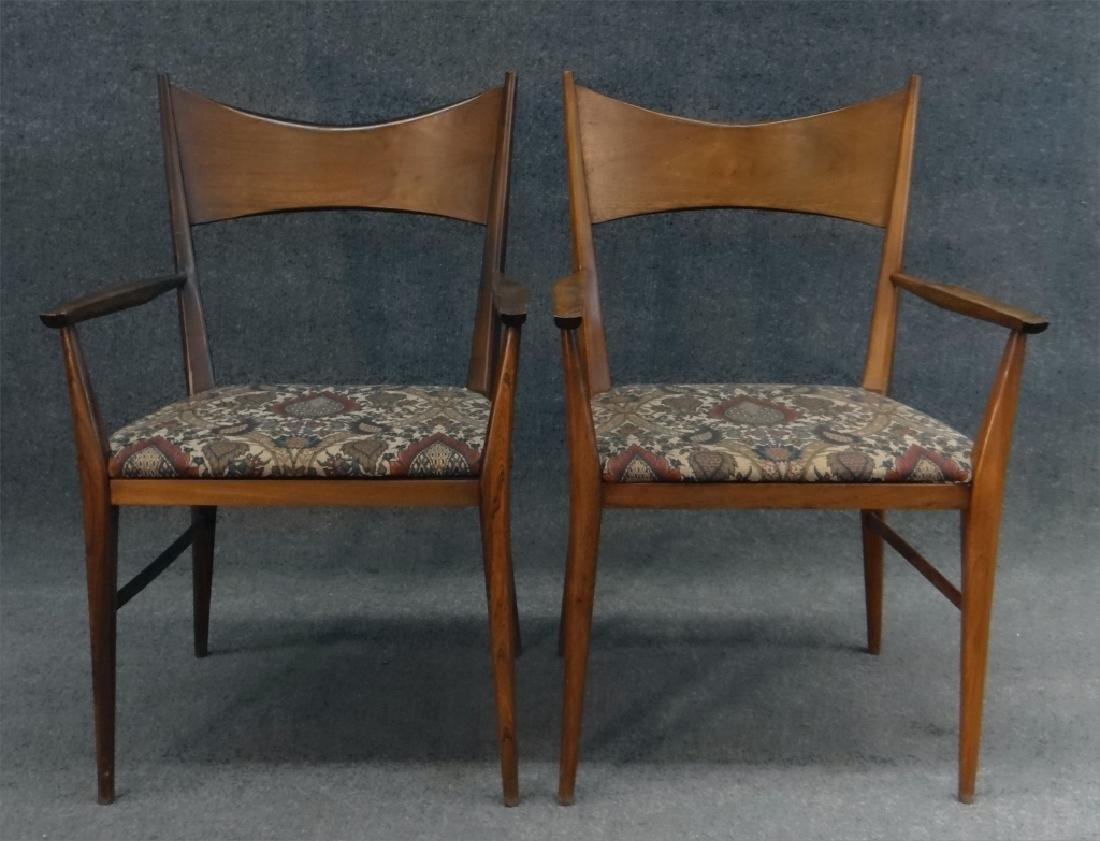 6 PAUL MCCOBB CHAIRS & TABLE W/ 2 LEAVES - 6