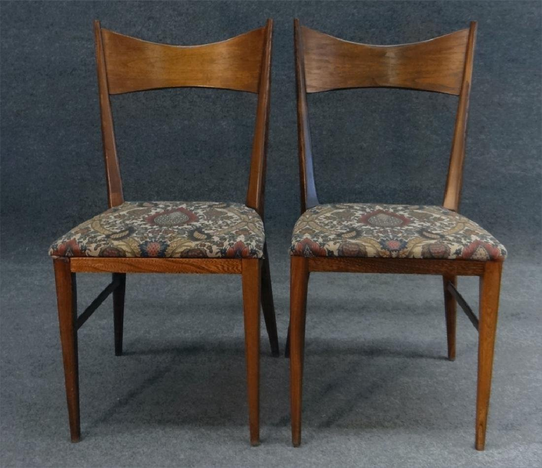 6 PAUL MCCOBB CHAIRS & TABLE W/ 2 LEAVES - 7