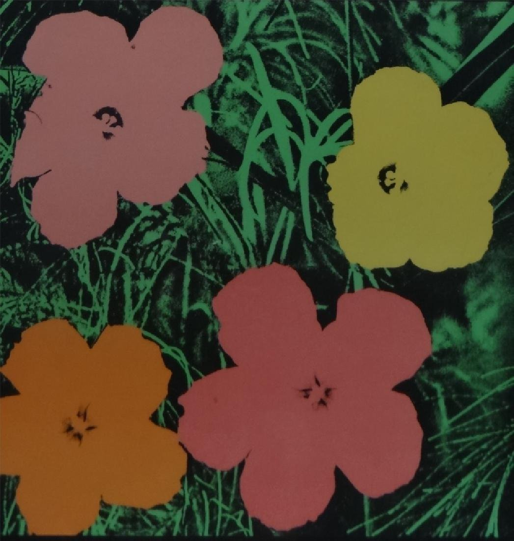 "ANDY WARHOL POSTER , 1964 ""FLOWERS"" - 2"