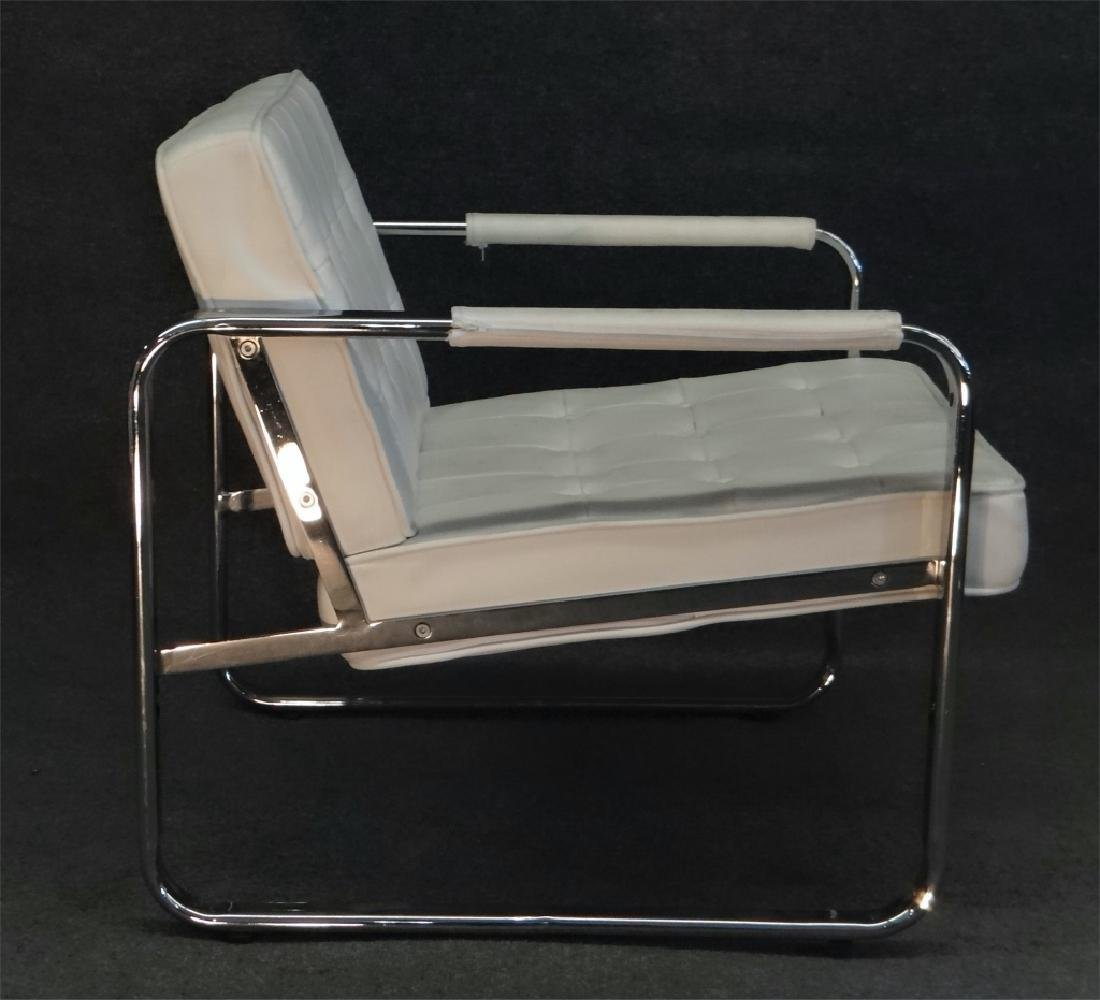 PR OF CHROME & LEATHERETTE MODERN CHAIRS BY MINTON - 5