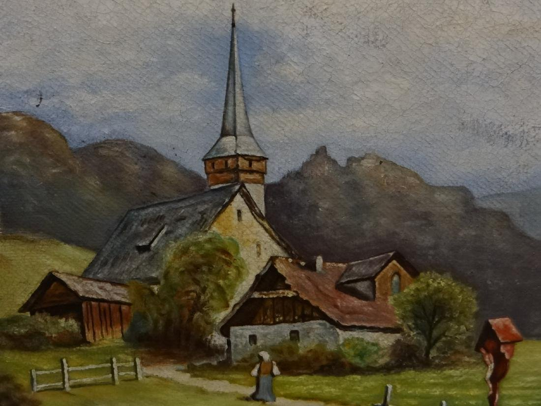 "O/BD ""CHAPEL IN A COUNTRY SETTING"" UNSGND - 3"
