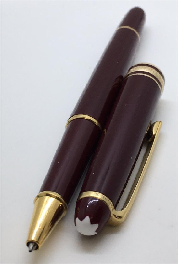 "2 MONT BLANC PENS: 1 ""MEISTERSTUCK"" BALL POINT IN - 7"