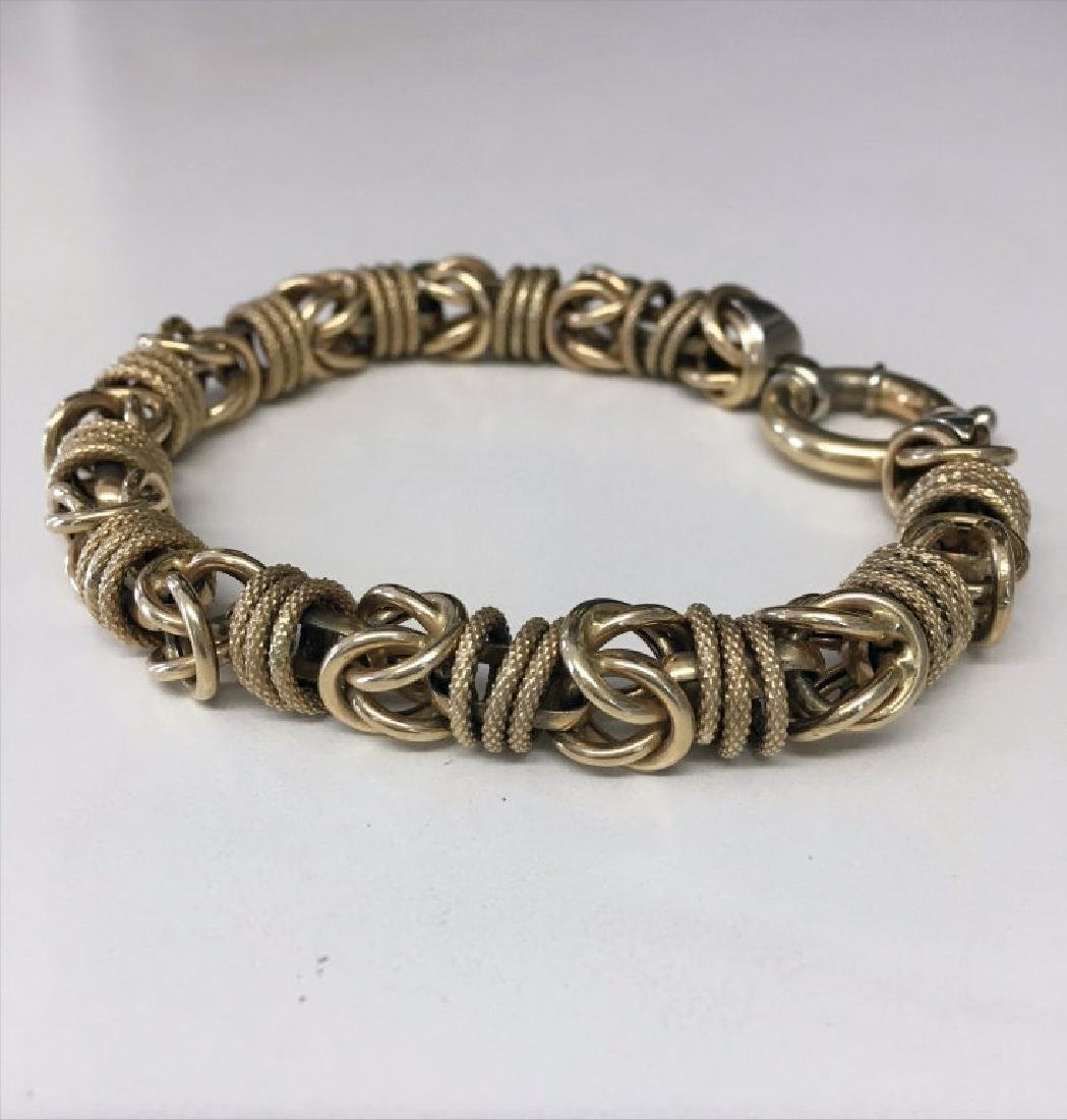 "14KT YELLOW GOLD 8"" BRACELET APPROX. 15.2 DWT"