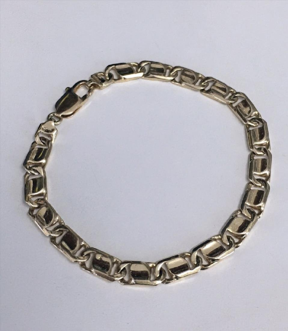 "14KT YELLOW GOLD 8"" BRACELET APPROX. 12.1 DWT"