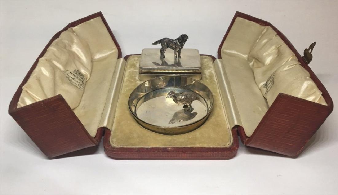 1898 HALLMARKED STERLING HINGED LID BOX AND DISH