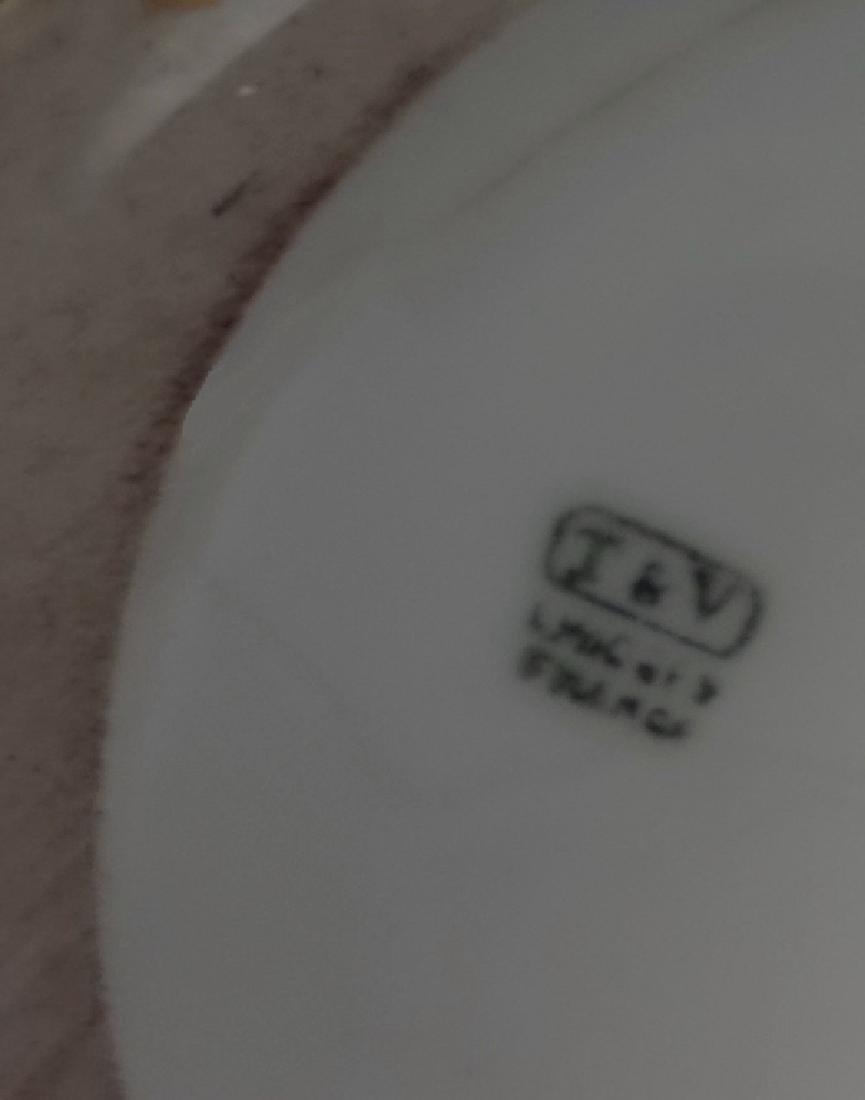 """24"""" LIMOGES HAND PAINTED VASE W/ PARCEL GILT DECOR - 5"""